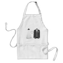 Bride & Groom Wedding Apron