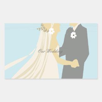 Bride Groom Wedding Dance Anniversary Rectangular Sticker