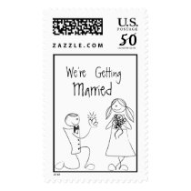 Bride Groom Wedding Invitation RSVP Save The Date Postage