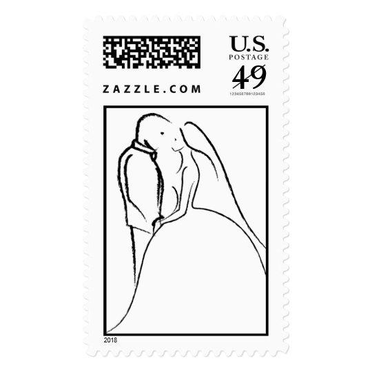 Bride Groom Wedding Invitation RSVP Save The Dates Postage