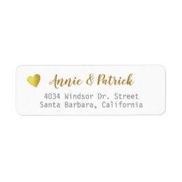 bride groom wedding mailing return address label