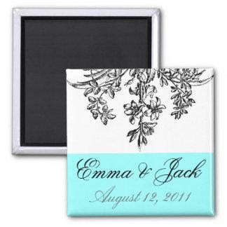 Bride & Groom Wedding Monogram 2 Inch Square Magnet