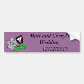 Bride Groom Wedding Paraphernalia Bumper Sticker