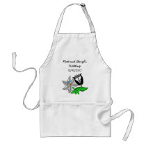 Bride Groom Wedding Paraphernalia Customize Text Adult Apron