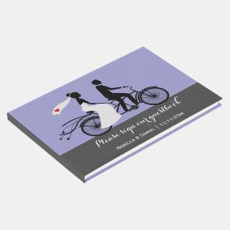 Bride Groom Wedding Personalized Tandem Bike Guest Book