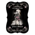 🎃  Bride Groom Wedding Skeletons Cemetery Love Invite