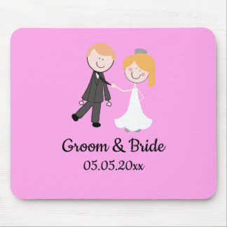bride groom wedding team mouse pad