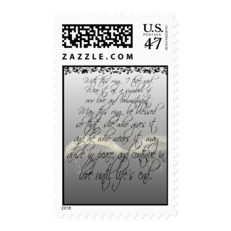 Bride & Groom With This Ring I Thee Wed Postage
