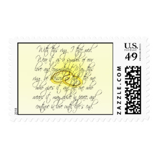 Bride & Groom With This Ring I Thee Wed Stamp