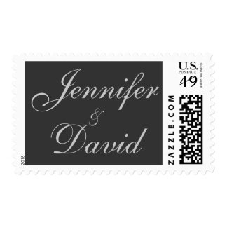 Bride & Groove Names Script Charming Postage