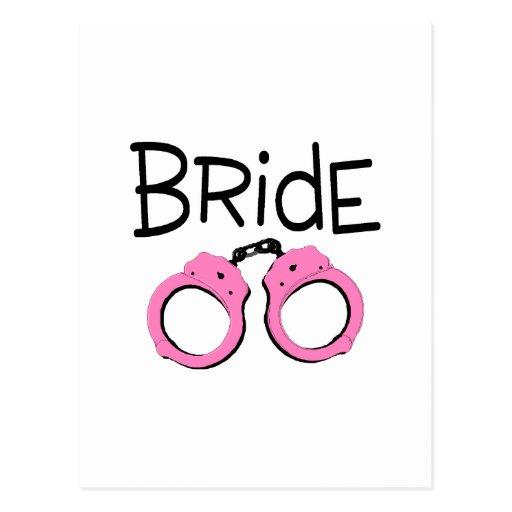 Bride Handcuffs Postcard