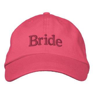 Bride hat embroidered baseball cap