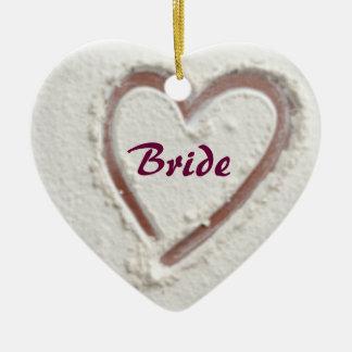 Bride heart of sand ceramic ornament