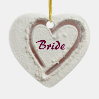 Bride heart of sand christmas ornament