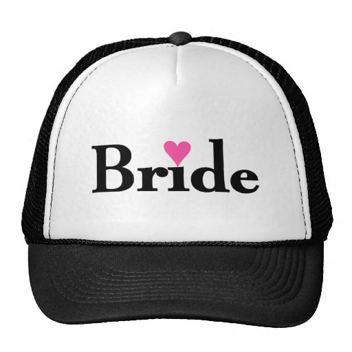 Bride Heart Trucker Hat