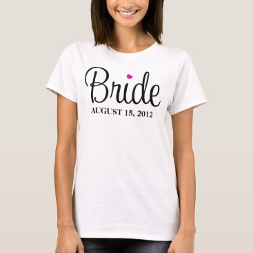 Valentines Themed BRIDE HEART | WEDDING APPAREL T-Shirt