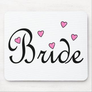 Bride Hearts Mouse Pad