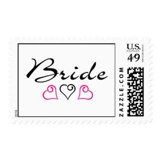 Bride Hearts Postage Stamp