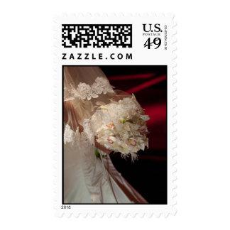 Bride Holding Flower Postage