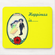 Bride in a rainbow dress - Happiness is ... Mouse Pad