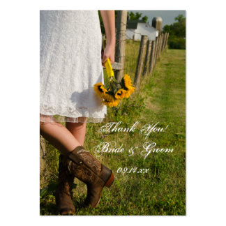 Bride in Cowboy Boots Ranch Wedding Favor Tags Large Business Card