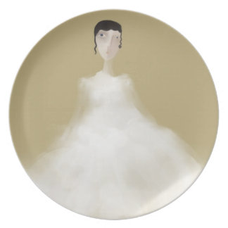 Bride in Question Party Plate