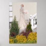 Bride In The Garden Posters