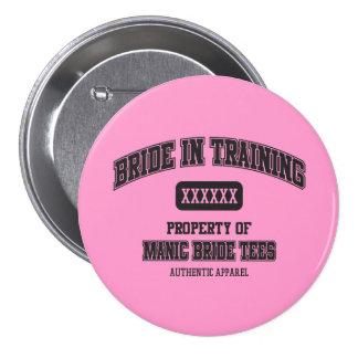 Bride In Training Button (Pink)