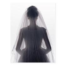 Bride in Wedding Gown Postcard