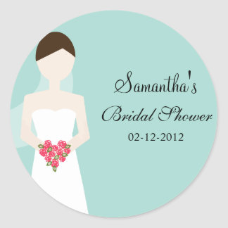 Bride in Wedding Gown Sticker