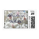 Bride in White! Floral postage stamps Rhodies
