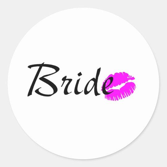 Bride Kiss Classic Round Sticker