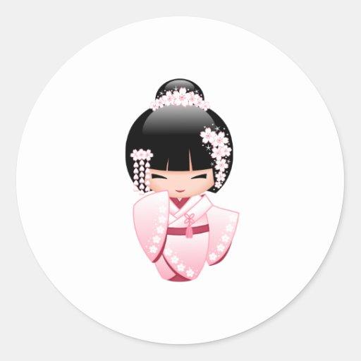Bride kokeshi doll cute japanese geisha girl classic for Stickers kokeshi