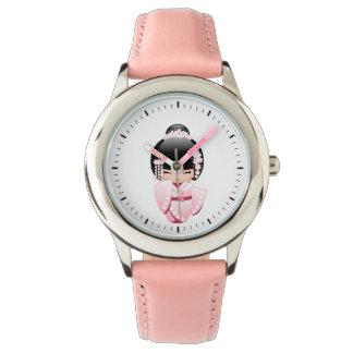 Bride Kokeshi Doll - Cute Japanese Geisha Girl Wristwatches