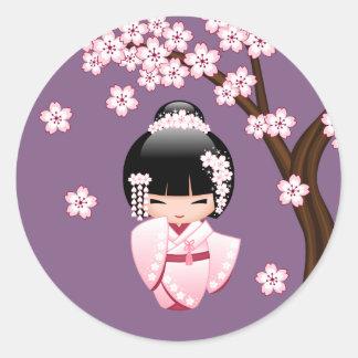 Kokeshi stickers zazzle for Stickers kokeshi