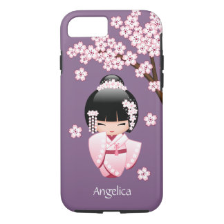Bride Kokeshi Doll - Cute Oriental Geisha Girl iPhone 7 Case