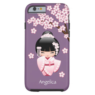 Bride Kokeshi Doll - Cute Oriental Geisha Girl Tough iPhone 6 Case