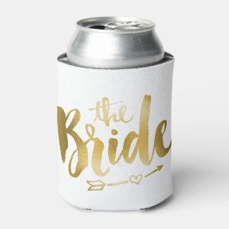 Bride Koozie - Gold Can Cooler