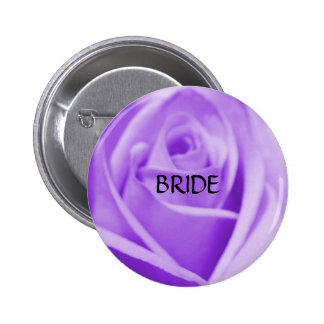 BRIDE - lavender rose button