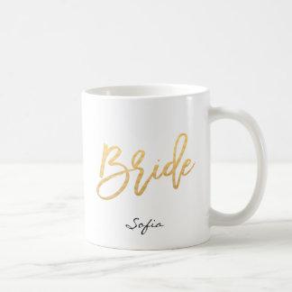 Bride Lettering Custom Coffee Mug