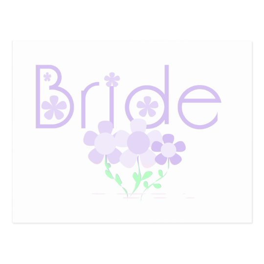 Bride Lilac Flowers Tshirts and Gifts Postcard