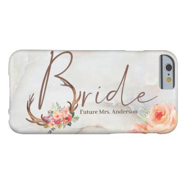 Bride Marble watercolor Floral Barely There iPhone 6 Case