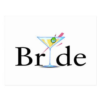 Bride (Martini Drink) Postcard