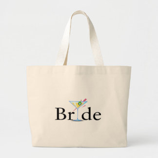 Bride Martini Jumbo Tote Bag