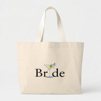 Bride Martini Large Tote Bag