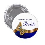 Bride mother bridal couple party 1 inch round button