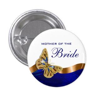 Bride mother bridal couple party pinback button