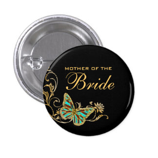 Bride mother bridal wedding black gold buttons