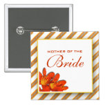 Bride mother bridal wedding orange yellow pins