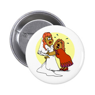 Bride Mother Wedding Day Ceremony Button